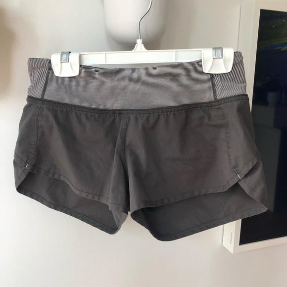 Lululemon Grey run shorts size 2
